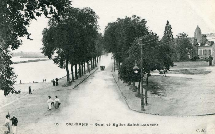 Quai Saint-Laurent - Le quai et l'église Saint-Laurent, 1913