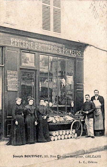 Rue Charles Sanglier - Epicerie Boutinot, 1905